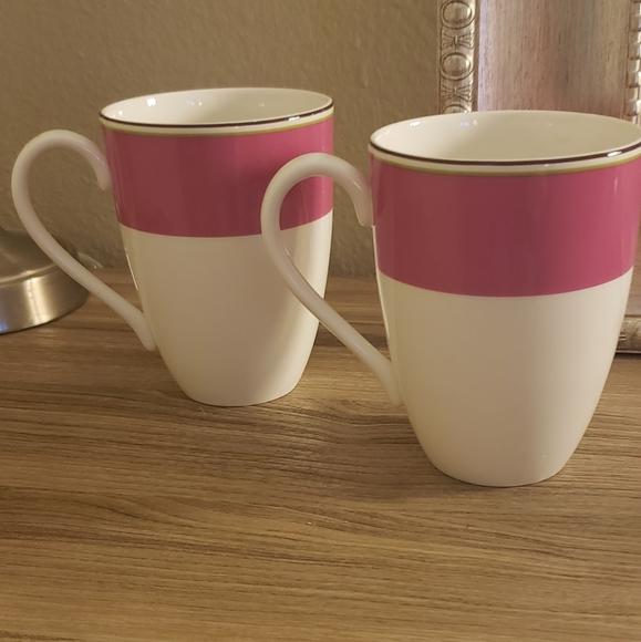 ♠️ kate spade ♠️: set of 2 lenox coffee mugs